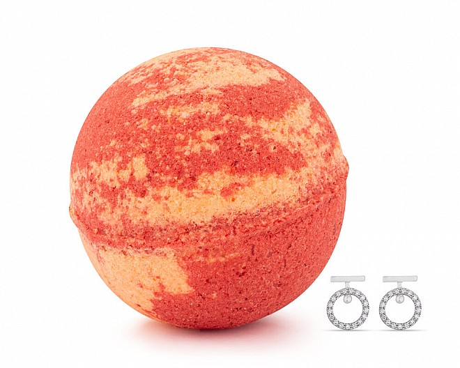 Orange Cranberry Jewelry Earrings Bath Bomb