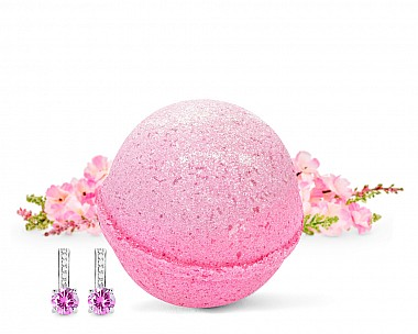 Pretty in Pink Earrings Bath Bomb