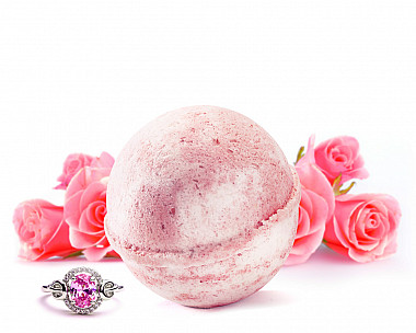 Rose Milk Jewelry Bath Bomb