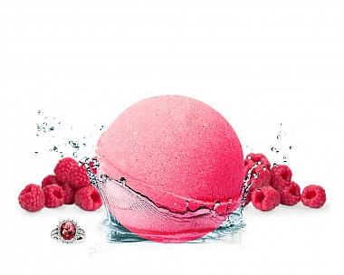 Rouge Raspberry Jewelry Bath Bomb