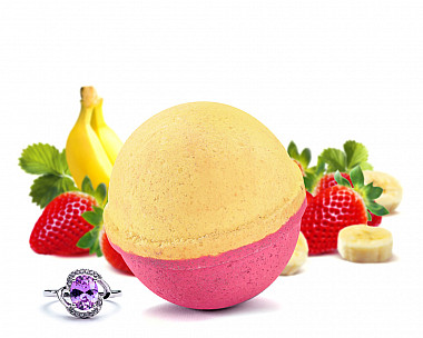 Strawberry Banana Jewelry Bath Bomb