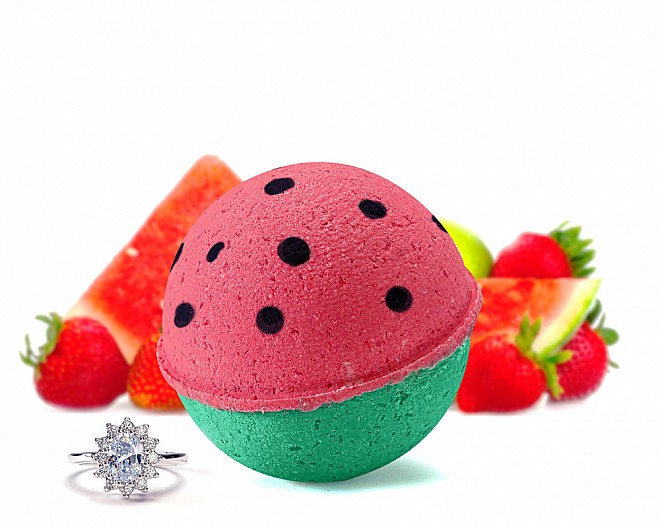 Watermelon Slush Jewelry Bath Bomb