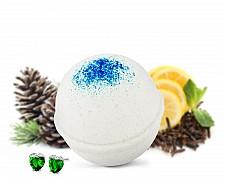 White Christmas Earrings Bath Bomb