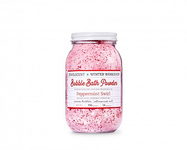 Essentials Peppermint Swirl Bubble Bath Powder