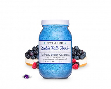 Blueberry Merry Christmas Jewelry Bubble Bath Powder
