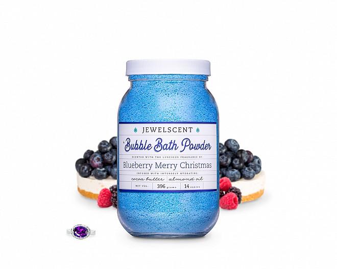 Blueberry Merry Christmas Jewelry Bubble Bath Powder