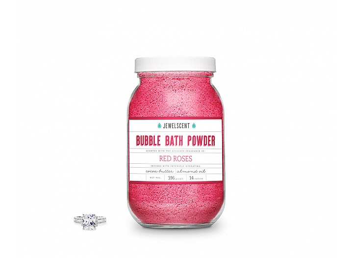 Red Roses Jewelry Bubble Bath Powder