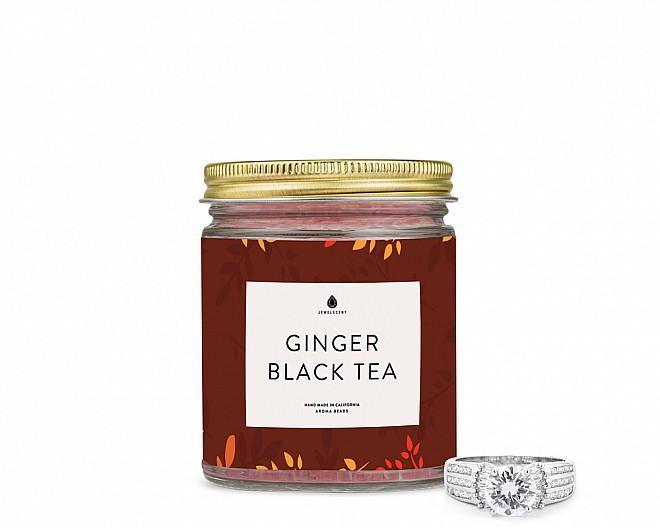 Ginger Black Tea Jewelry Ring Aroma Beads