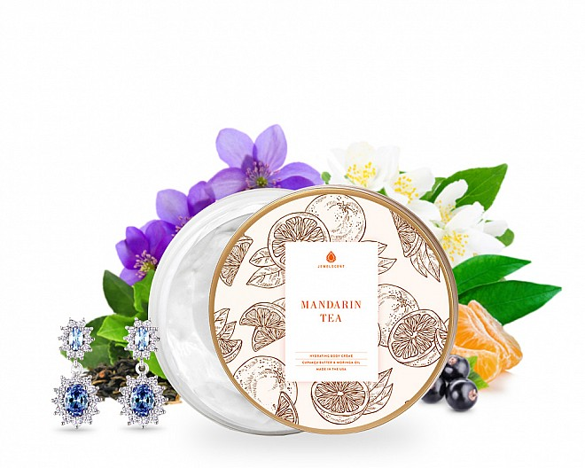 Mandarin Tea Jewelry Earrings Body Crème