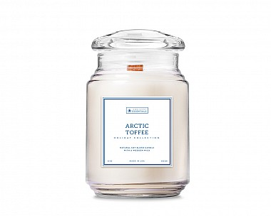 Essentials Arctic Toffee Large Wood Wick Candle