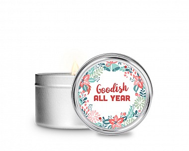 Essentials Goodish All Year Tin Candle