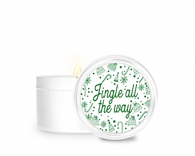 Essentials Jingle All The Way Tin Candle