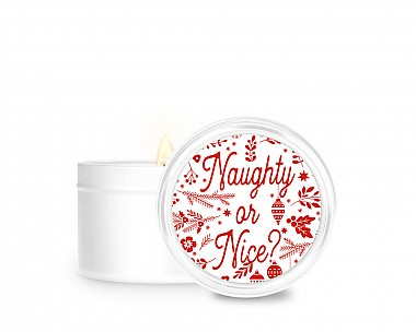 Essentials Naughty or Nice Tin Candle