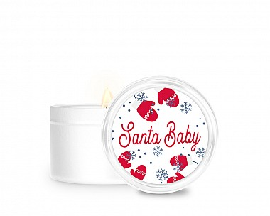 Essentials Santa Baby Tin Candle