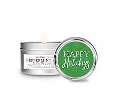 Essentials Happy Holidays Tin Candle