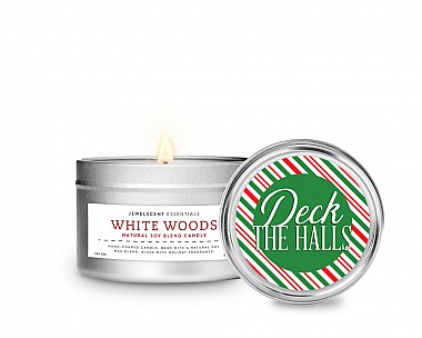 Essentials Deck The Halls Tin Candle