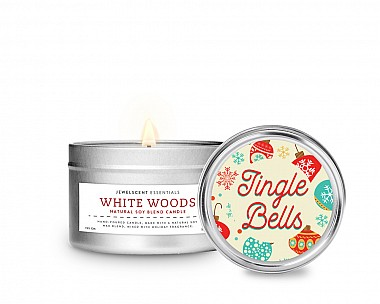 Essentials Jingle Bells Tin Candle