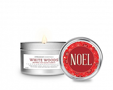 Essentials Noel Tin Candle