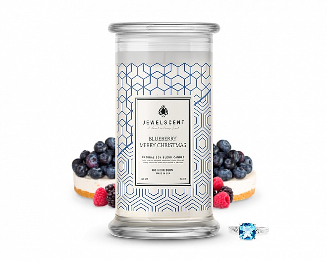 Blueberry Merry Christmas Classic Jewelry Candle