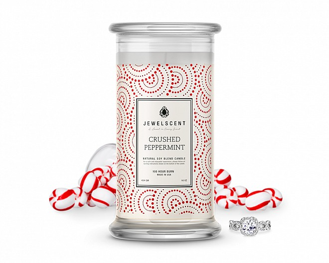 Crushed Peppermint Jewelry Candle