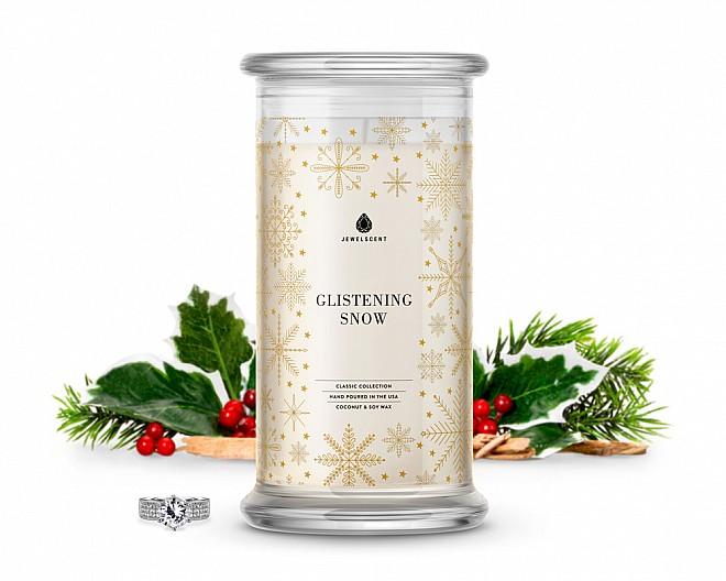 Glistening Snow Classic Jewelry Candle