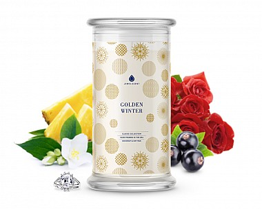 Golden Winter Classic Jewelry Candle