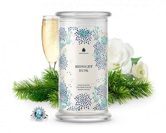 Midnight Dusk Classic Jewelry 16oz Candle
