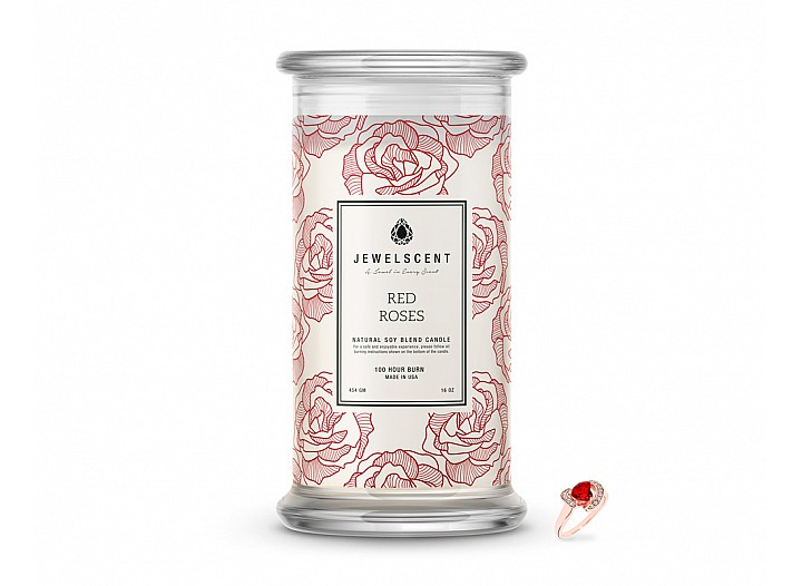 Red Roses Classic Jewelry Candle
