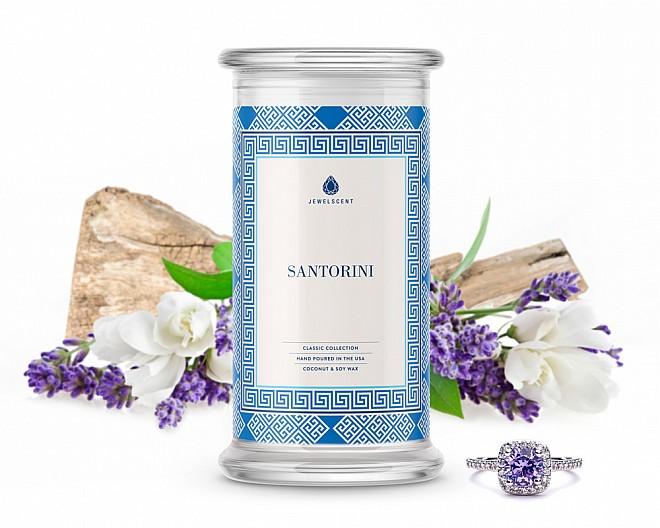Santorini Classic Jewelry Candle