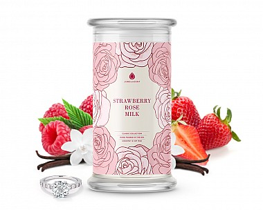 Strawberry Rose Milk Classic Jewelry 16oz Candle