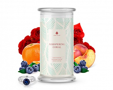 Whispering Coral Classic Jewelry Candle