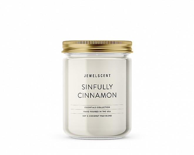 Essentials Jar Sinfully Cinnamon Candle