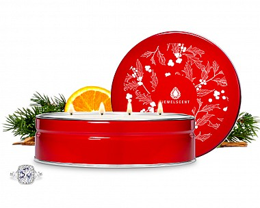 Christmas At The Cabin Luxe Tin Jewelry Candle