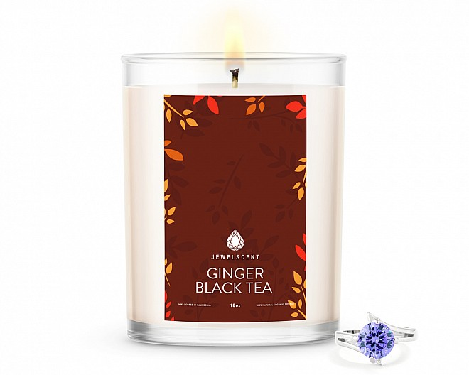 Ginger Black Tea Home Jewelry 18oz Ring Candle