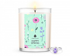 Happy Spring Home Jewelry 18oz Ring Candle