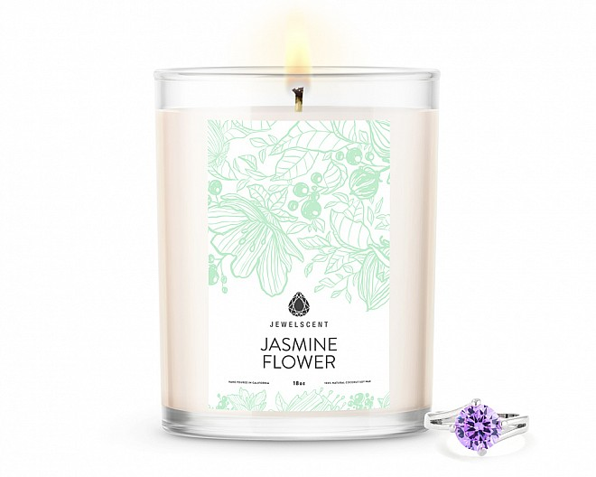 Jasmine Flower Home Jewelry 18oz Ring Candle