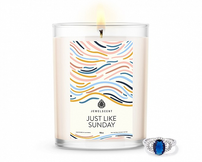Just Like Sunday Home Jewelry 18oz Ring Candle