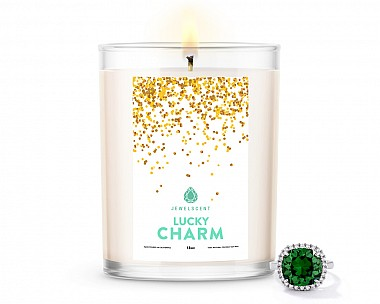 Lucky Charm Home Jewelry 18oz Ring Candle