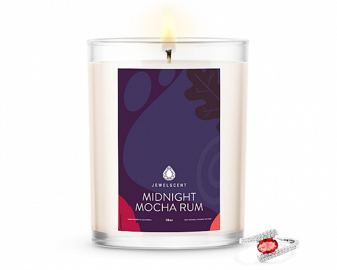 Midnight Mocha Rum Home Jewelry 18oz Ring Candle