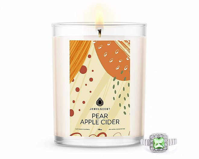 Pear Apple Cider Home Jewelry 18oz Ring Candle