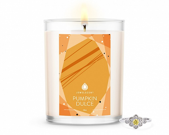 Pumpkin Dulce Home Jewelry 18oz Ring Candle