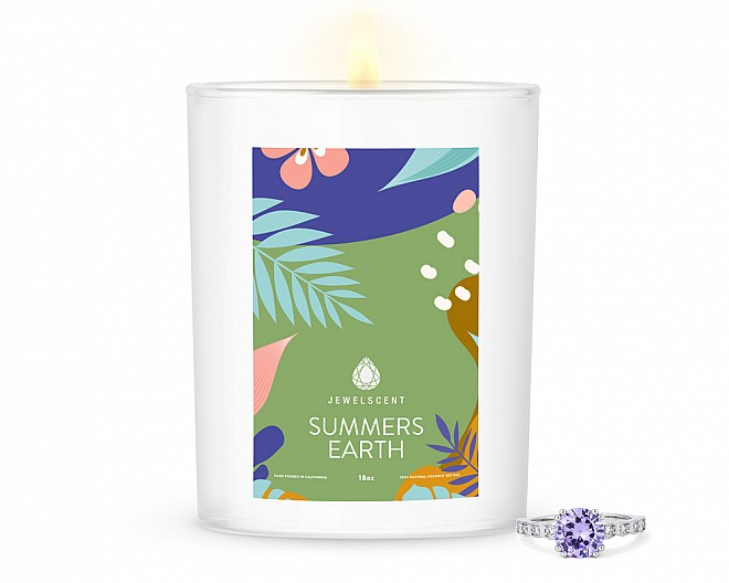 Summers Earth Home Jewelry 18oz Ring Candle