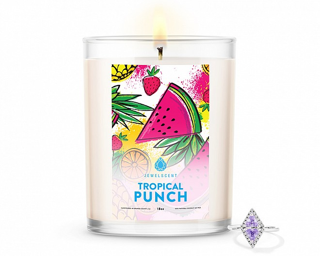 Tropical Punch Home Jewelry 18oz Ring Candle