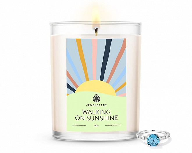 Walking on Sunshine Home Jewelry 18oz Ring Candle