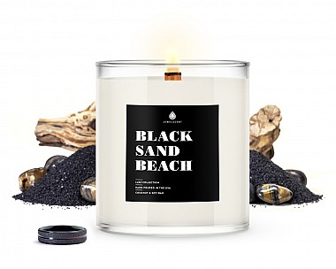 Black Sand Beach Men's Jewelry Luxe Candle