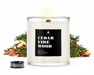 Cedar Firewood Men's Jewelry Luxe Candle
