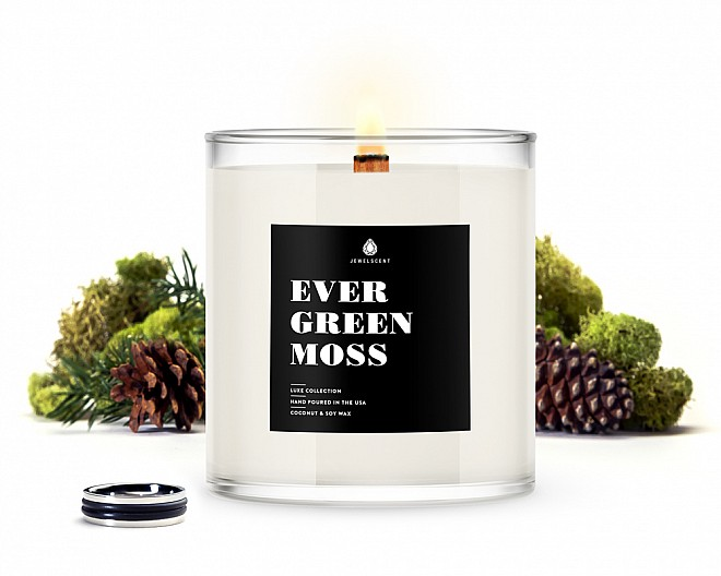 Evergreen Moss Men's Jewelry Luxe Candle