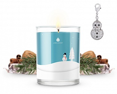Signature Snowman Charm Candle