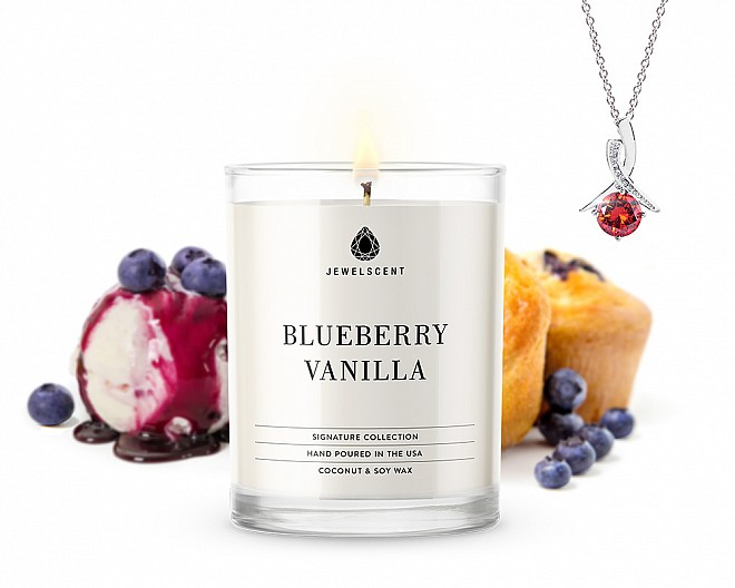 Signature Blueberry Vanilla Jewelry Candle