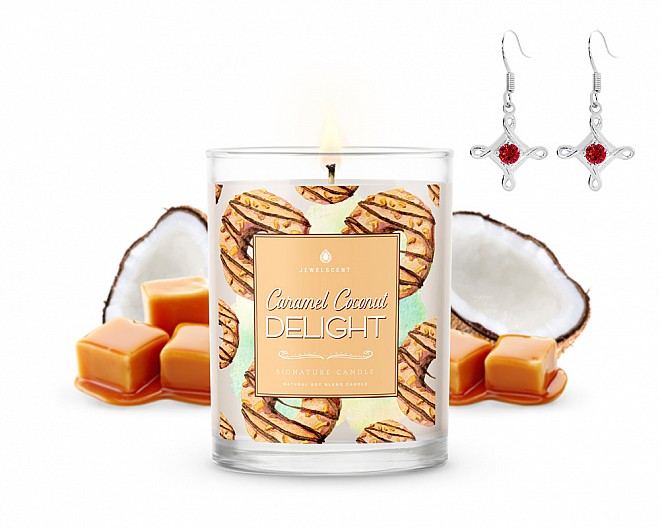 Signature Caramel Coconut Delight Jewelry Candle